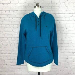 HURLEY Long Sleeve Pullover Hooded Sweatshirt L